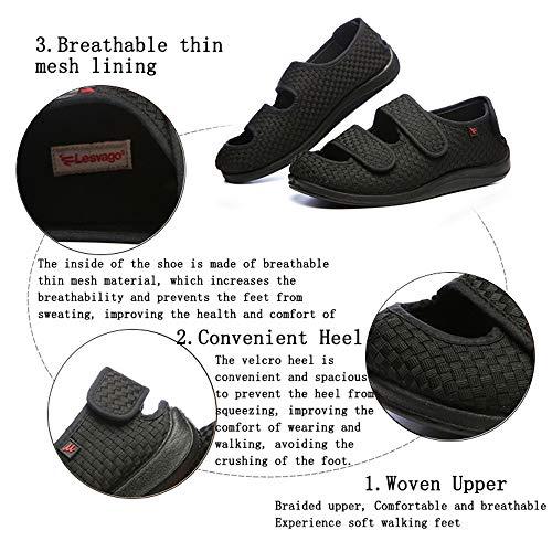 Hinchados Willsky 44 Red Espuma Ajustable Zapatillas Viscoelástica Artritis Diabéticos 34 Zapatos Cómoda Ensanchar Hombres Edema Para Velcro TrxHT6pwqZ