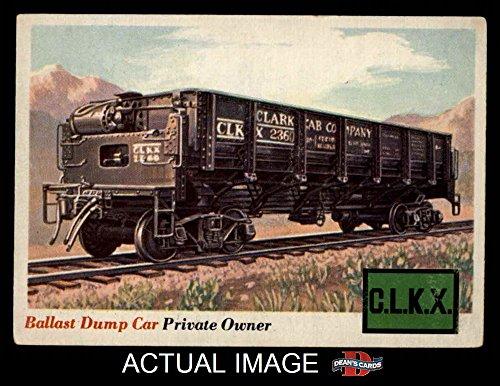 1955 Topps Rails & Sails # 10 Ballast Dump Car (Card) Dean's Cards 5 - EX 1950811 Ballast Dump Car