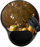 MSD Natural Rubber Mousepad wrist protected Mouse Pads/Mat with wrist support design: 12537418 Still Life with apples and autumn leaves