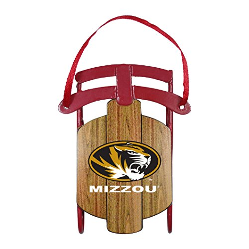 Tigers Runner Football (NCAA Missouri Tigers Metal Sled Ornament)