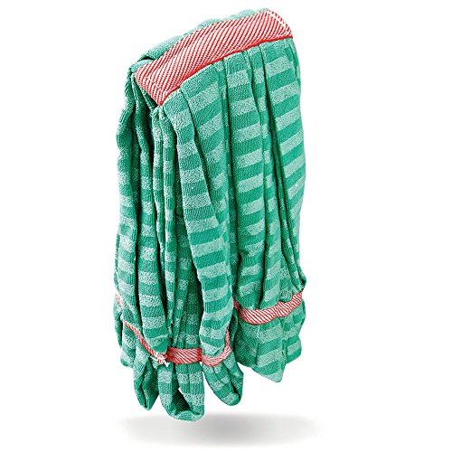 Libman Commercial 2121 Medium Microfiber Wet Mop Head, Microfiber, Equivalent to 24 oz. Head, Green (Pack of 10) by Libman Commercial (Image #1)