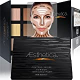 Compra Aesthetica Cosmetics Contour and Highlighting Powder Foundation Palette / Contouring Makeup Kit; Easy-to-Follow, Step-by-Step Instructions Included en Usame