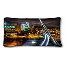 Generic Personalized ( City USA Bridges san diego california night Street lights ) Rectangle Pillowcase 20x36 inches (one side) suitable for Twin-bed