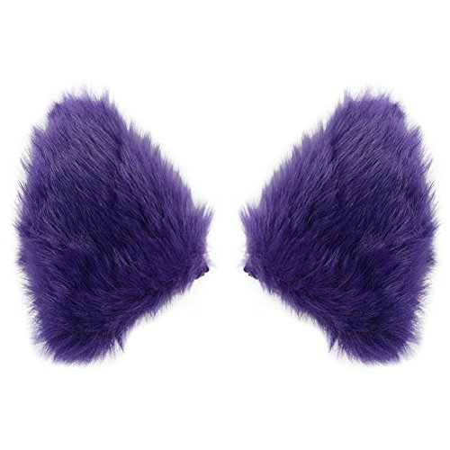 - Cat Fox Long Fur Ears Hair Clip Cosplay Costume Kit Fancy Dress Halloween Party