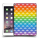 Head Case Designs White Patterns Rainbow Moustache Protective Snap-on Hard Back Case Cover for Apple iPad Air 2