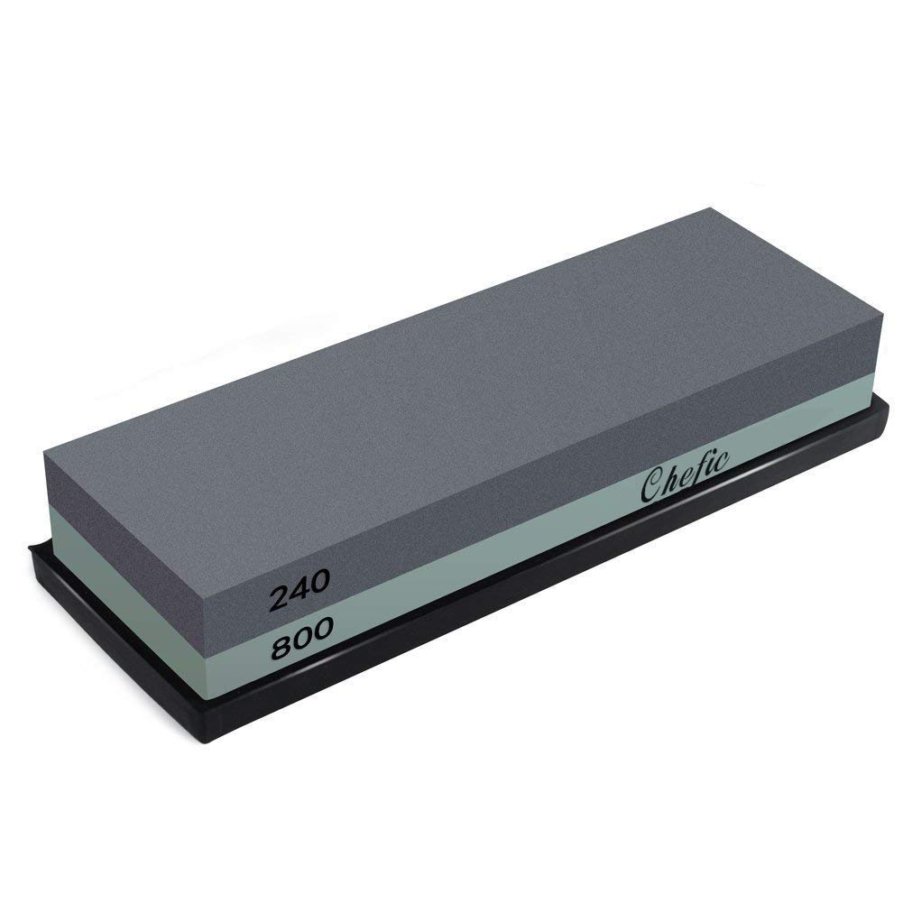 BearMoo Premium Sharpening Stone 240/800 Grit Waterstone Kit
