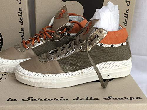 Italia Fantastiche Fatte 43 nbsp; con EU Uomo IT Pelle Sneaker Vera a Mano nbsp;N in 42 Uomo TrYTq