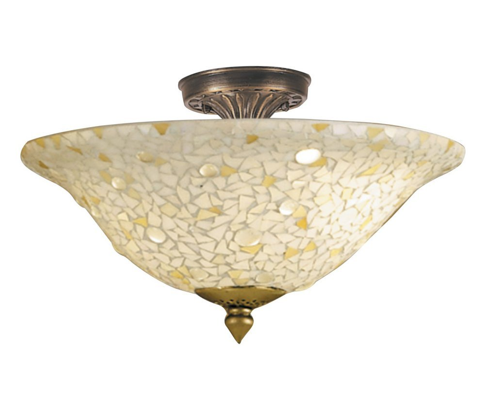 dale tiffany 85653ltf mosaicclear flush mount light antique bronze and mosaic shade close to ceiling light fixtures amazoncom