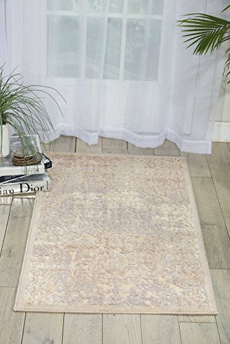 (Nourison Graphic Illusions Ivory Rectangle Area Rug, 3-Feet 6-Inches by 5-Feet 6-Inches (3'6