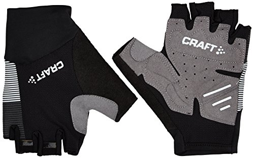 Craft Sportswear Unisex Reflective Glow Half Finger Cycling Bike Riding Gloves, Black/Silver, Small