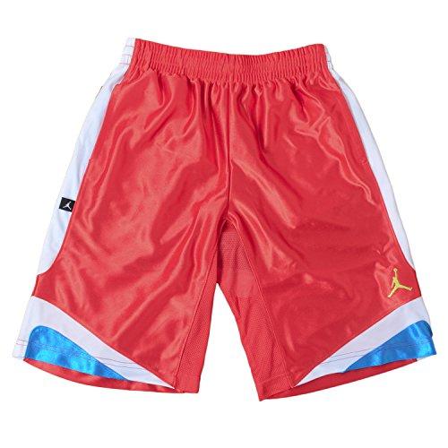 Jordan Big Boys' Basketball Court Vision Shorts (Large, Red/Blue/White)