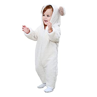 1f5554678031 Fairy Baby Baby Rompers Toddler Boys Girls Hooded Animal Jumpsuits ...