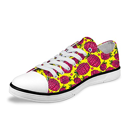 Cute Shoes 1 White Pattern Low Top Women Fruit with Printed Canvas Casual Cartoon nqFaRxW0w