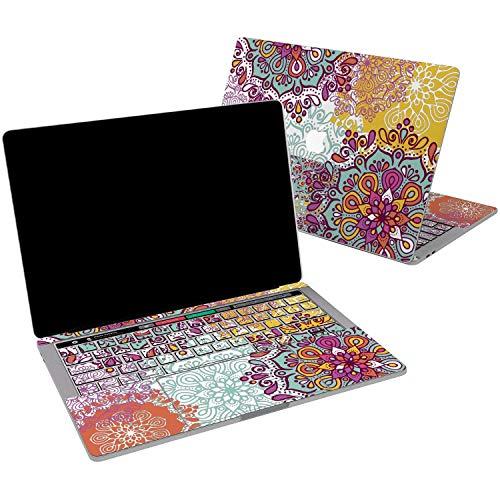 Lex Altern Vinyl Skin for MacBook Air 13 inch Mac Pro 15 Retina 12 11 2019 2018 2017 2016 2015 Bohemian Mandala Tribal Floral Ethnic Vintage Girl Trackpad Cover Keyboard Decal Sticker Print Design