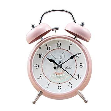 DDGOD Clásico Metálico 100% Reloj,Análogo Twin Bell ...