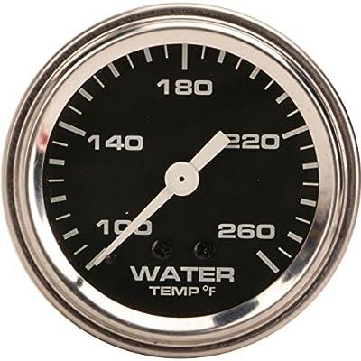 Mechanical Water Temperature Gauge, 2-1/16 Inch, Black: Automotive