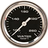 Mechanical Water Temperature Gauge, 2-1/16 Inch, Black