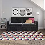 Signature Sleep Casey Velvet Sofa with Memory Foam Mattress, Gray, Queen