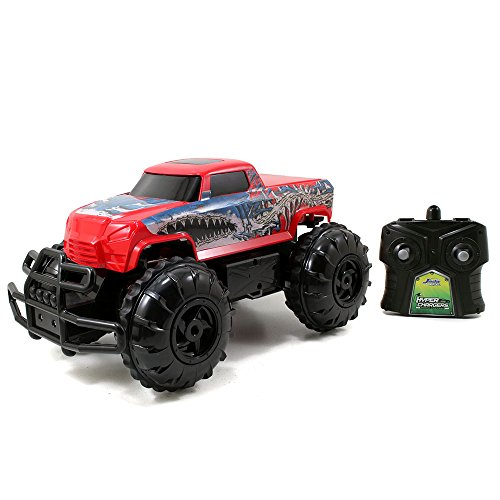 (Jada Toys HyperChargers 1:16 Water and Land R/C Vehicle, Red)