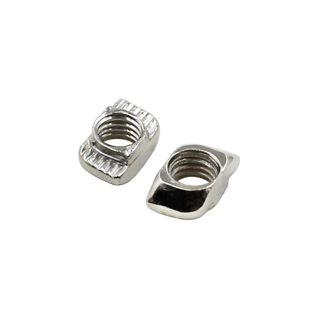Yoohey 10PCS T Nuts 2020 Series M5 Sliding T Slot Nuts Nickel-Plated Carbon Steel Half Round Roll in T-Nut