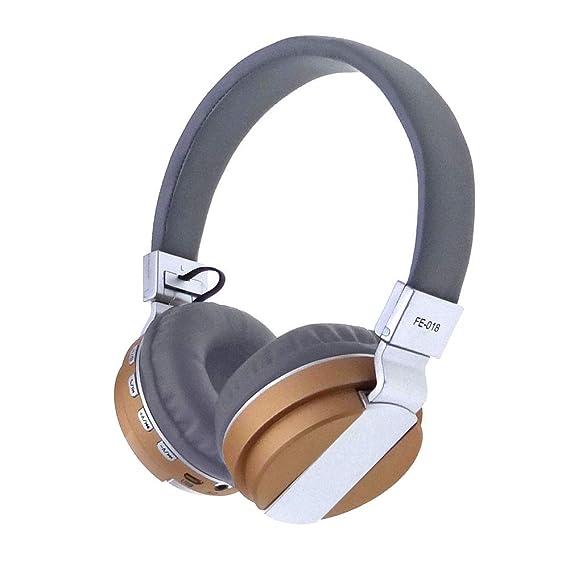 MiniPoco Stereo Audio Blutooth 4.0 Earphone Auriculares Bluetooth Headset Wireless Headphones (Gold)