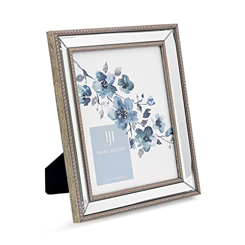 Isaac Jacobs Mirror Bead Frame (8x10, - Silver With Mirror Frame