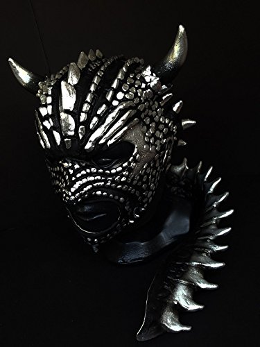 [BLACK DRAGON WRESTLING MASK LATEX MASK LUCHADOR COSTUME WRESTLER LUCHA LIBRE MEXICAN MASKE] (666 Halloween Costume)