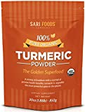 Pure Natural Organic Turmeric Powder (30 Ounce Bulk): Natural Vegan Whole Food Based Curcumin Superfood Supplement: The Golden, Antioxidant Spice with Benefits.