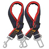 COMSUN 2-Pack Car Dog Seat Belt, Adjustable Dog Seatbelt for Car, Dog Harness Safety Leads, Cat Vehicle Traveling, 17-26 Inch Length Review