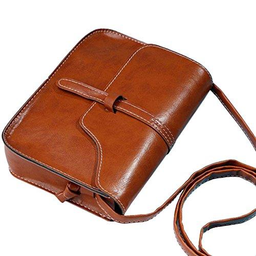 Vin beauty La bolsa de asas del hombro del monedero de las mujeres del caramelo del bolso del mensajero del color del Ho Brown