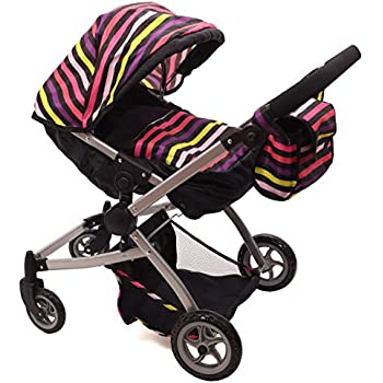 Amazon Com Babyboo Twin Doll Stroller Foldable Double