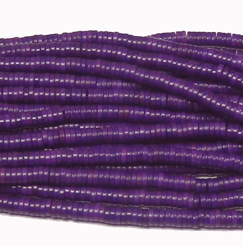 Chalk Turquoise Beads (6mm Heishi Chalk Turquoise Dyed Purple Gemstone Beads Approx 30