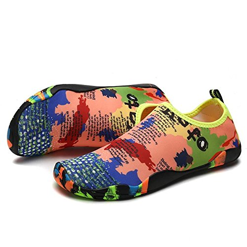 Outdoor YiyiLai Women Water Swim for Socks Upstream Dry Shoes Yoga Map Quick Aqua rwO4Eqw