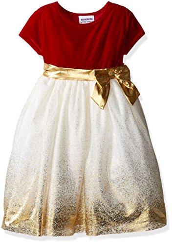 6x Girls Velvet Dress - 4