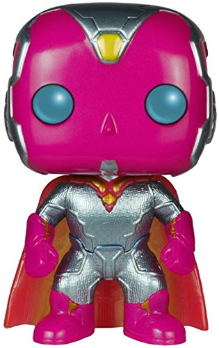 Funko Pop Marvel Avengers Age of Ultron Vision Metallic Exclusive Vinyl Bobblehead Figure