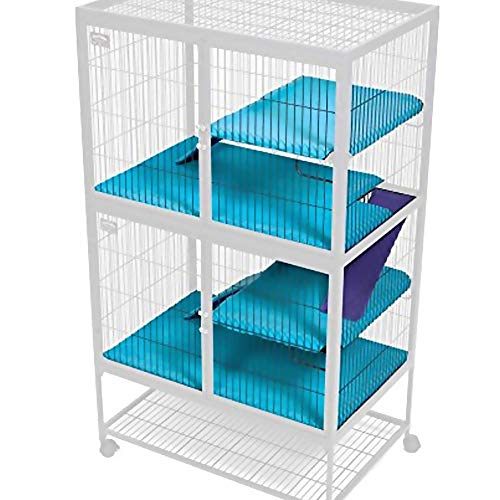 - MWShop 2-Story Guinea Pig Cage Ferret Nation & Critter Nation Accessories Kit Velvety, Fiberfill Cushion Provides a Soft and Cozy Shelf for Rest and Play Simply Slip Over The Existing Shelves