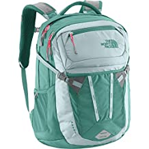 The North Face Womens Recon Backpack (Hydro Green/Snowcone Red)