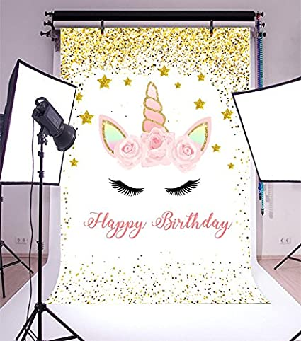 Yeele 8x10ft Unicorn Baby Birthday Backdrop Sweet Cute Little Princess Photography Background for Picture Party Banner Decor Girl Boy Baby Portrait Photo Booth Shooting Vinyl Wallpaper Studio Props