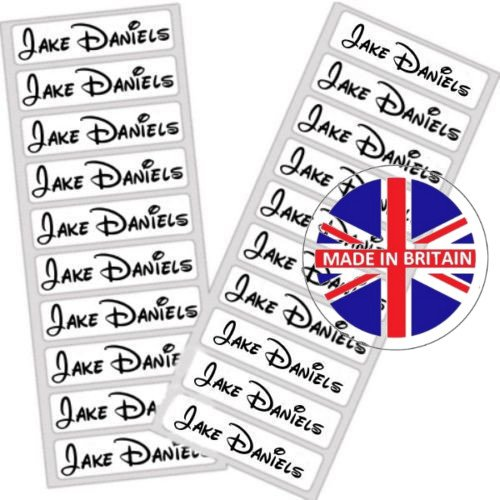 50 Stick On /& 50 Iron On School Name Labels Tags Printed Waterproof Tapes