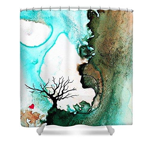 Pixels Shower Curtain (74'' x 71'') ''Love Has No Fear - Art By Sharon Cummings'' by Pixels