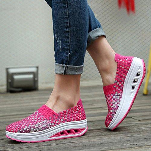 Comode Scarpe Comode Primo Casual Caldo Sneaker Scarpe alla Piattaforma Rosa Promozione Giorno Scarpe Stringate Donna Moda Stringate da Suole Grande Sportive Ya5xc