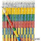 Fun Express Colored Block Brick Party Favor Pencils - 24 Piece Pack