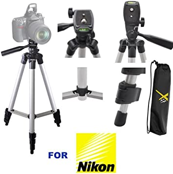 J 3 Piece Tripod Package for The Nikon D Series /& COOLPIX L Extra Flexible Gripster Tripod V Includes 75 Tripod w//Carrying Case L 72 Monopod P AW1 Series S