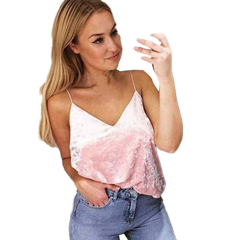 EOWEO Anniversary celebration T-Shirt Tops Vest Women Loose Comfortable Sleeveless Tank Tops Vest(Large,Pink)