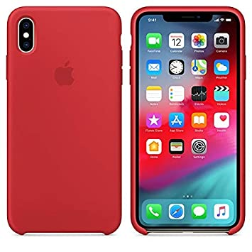 Desconocido Funda para iPhone, Silicona Roja Logo Apple Carcasa iPhone Rojo (iPhone X/XS)