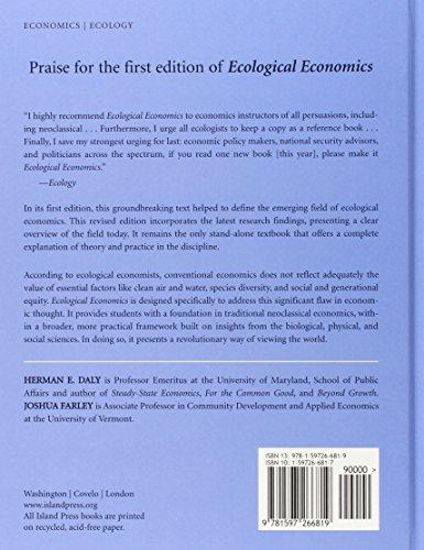 ecological economics principles and applications