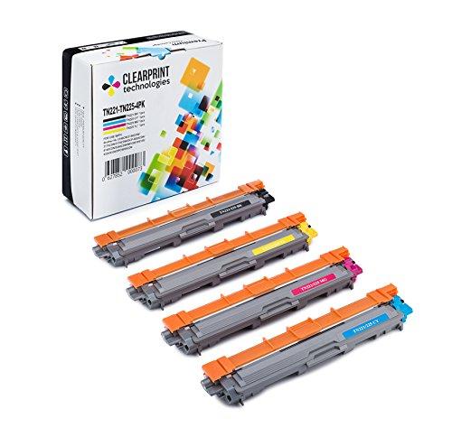 Clearprint TN221 / TN225 Compatible Color Toner Set for B