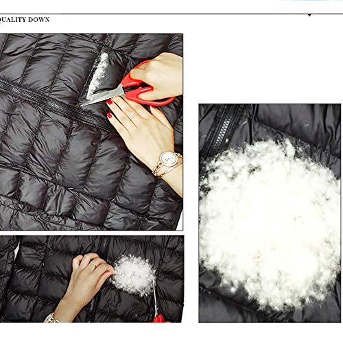 Acolchadas Plumón Moda Chaqueta Chaquetas Abrigo Xiaig Larga Mujer Outwear Abajo Transpirable La Ligero De Invierno Plumas Jacket Puffer Escudo Cálido wa8wqFxHXd