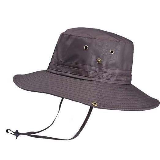 Asadfd Sombrero de pescador redondeado unisex Sombrero para el sol ...
