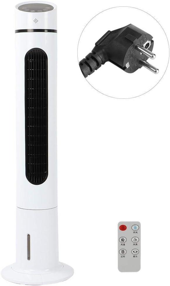 GOTOTP Ventilador de Torre con Control Remoto Sin Aspa del Ventilador Ultra Silencioso Oscilación de 180°Enfriamiento y Humidificación Velocidad Ajustable 112 x 30 x 17cm